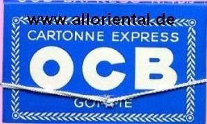 OCB Blau small mit Gummizug 1 Päckchen mit 100 Blättchen