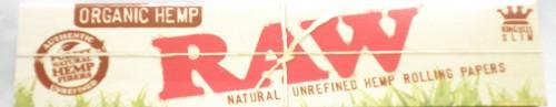 1 x 32 RAW Organic Hemp Booklet Natural Unrefined Hemp Rolling Papers