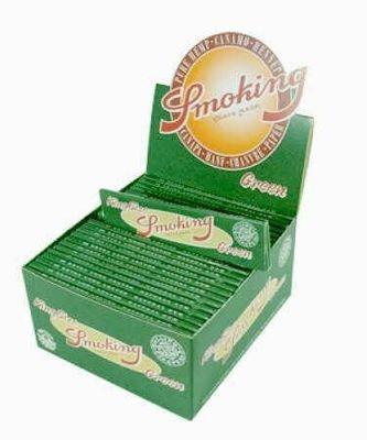 SMOKING Papers, Grün Hanfpapier KingSize 50 x 33 Blättchen BOX (VE)