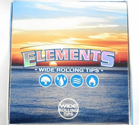 Elements Wide Rolling Tips, Box 50 x 50