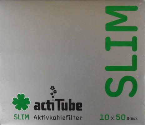actiTube Slim Aktivkohlefilter 500 Stück (10 x 50) zum Eindrehen