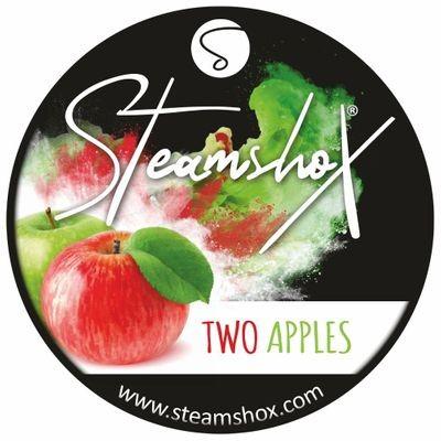 SteamshoX® Two Apples, Dampfsteine 140g Steingranulat (Steam Stones), nikotinfreier Tabakersatz
