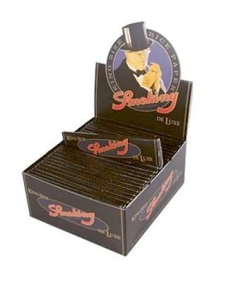 SMOKING Papers DE LUXE schwarz KingSize, 50 x 33 Blättchen BOX (VE)