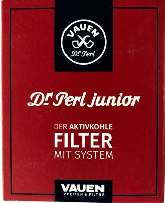 Vauen Dr. Perl Junior Pfeifenfilter 400 Stück (10 x 40) 9mm Aktivkohle Filter Jubox