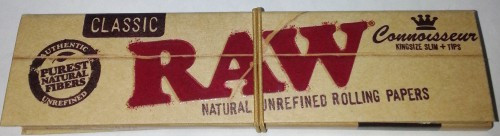 1 Booklet, RAW Connoisseur mit Filtertips, Smoking Papers