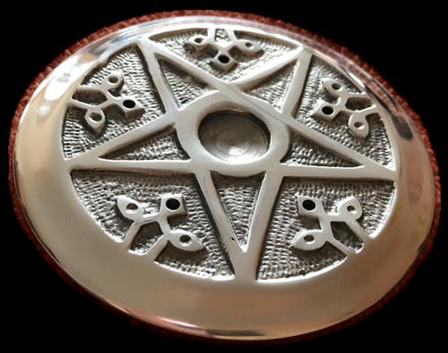 Aluminium-Halter Pentagramm für Räucherstäbchen und Räucherkegel
