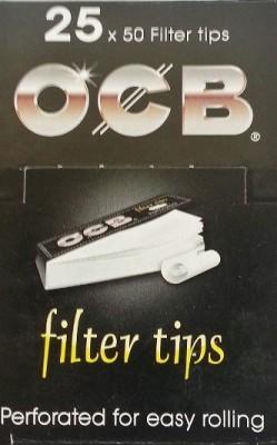 OCB Filter Tip, 1,8 cm x 6,0 cm, 25 x 50 Blättchen BOX (VE)
